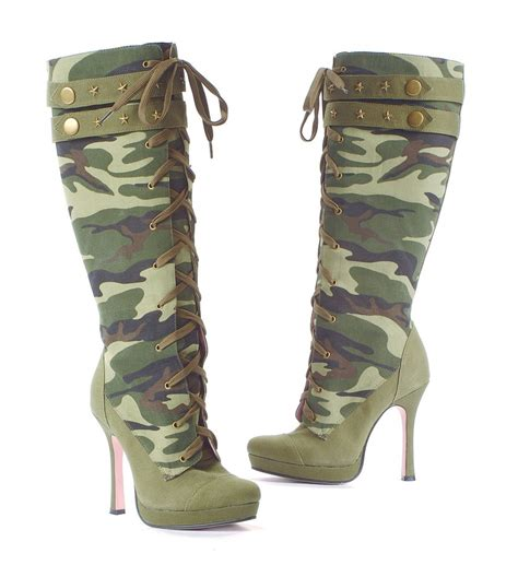 leg avenue army camouflage sergeant boots burlesque