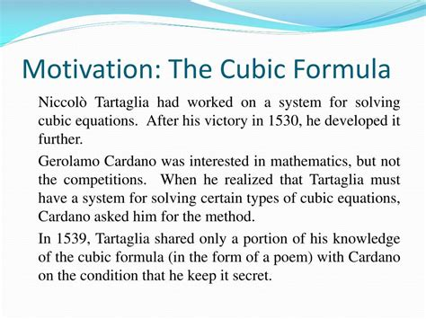 gerolamo cardano formula ppt a history of complex numbers powerpoint presentation