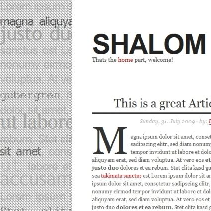 typo template shalom typo template free website templates in css html