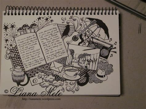Sketches A Song by Journal Collage Drawings By Liana M