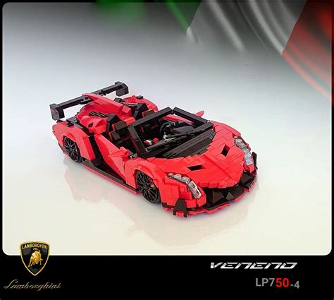 Lego Lambo Veneno Roadster The Awesomer
