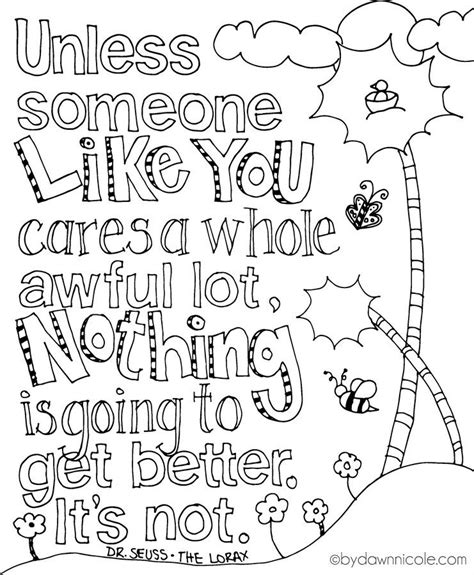 lorax earth day quotes quotesgram