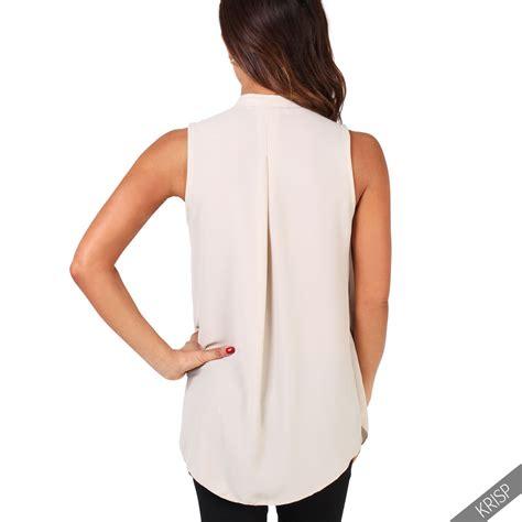 Kirana Frill Top Blouse 1 frill retro high neck sleeveless ruffle blouse v