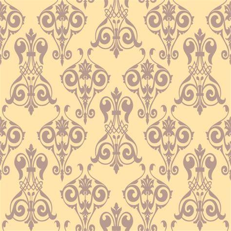 elegant pattern ai elegant yellow ornamental pattern vector free download