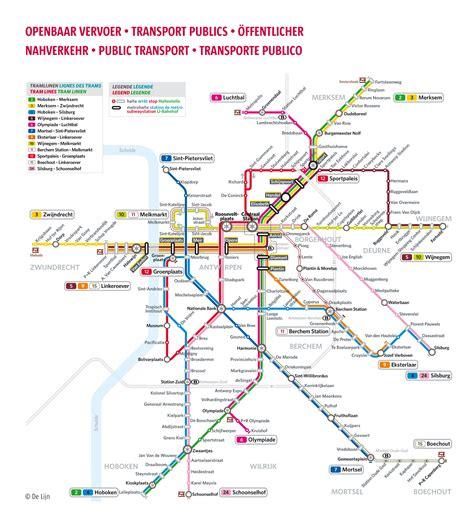 transport map brussels transport in antwerp