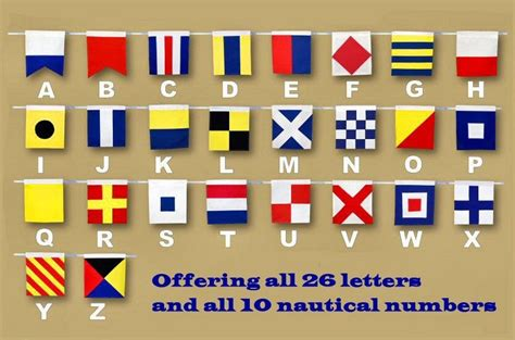 Nautical Flag | buy letter a cloth nautical alphabet flag decoration 20