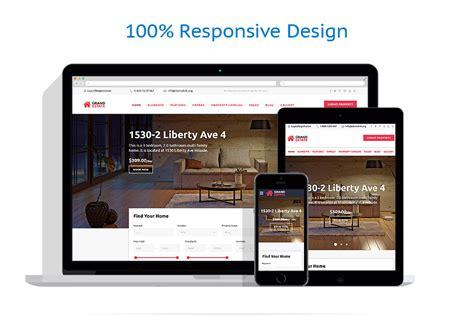 html responsive design layout real estate website template 58944 templates com