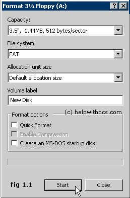 format cd programi how to format a floppy disk in windows xp