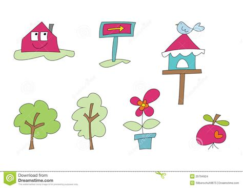 doodle home doodle set home and garden ii stock images image