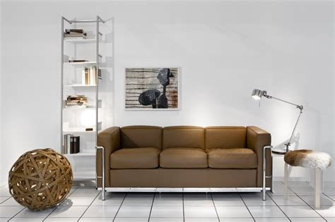 wohnen und design lc 2 sofa by le corbusier for cassina