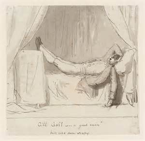 bed dance giff gaff a man asleep on a bed george dance tate