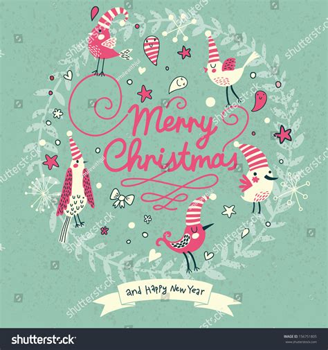 Merry Modern by Merry Card Modern Popular Colors Stock Vector