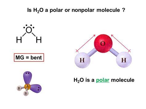 which electron dot diagram represents a polar molecule bent molecular geometry h2o www pixshark images