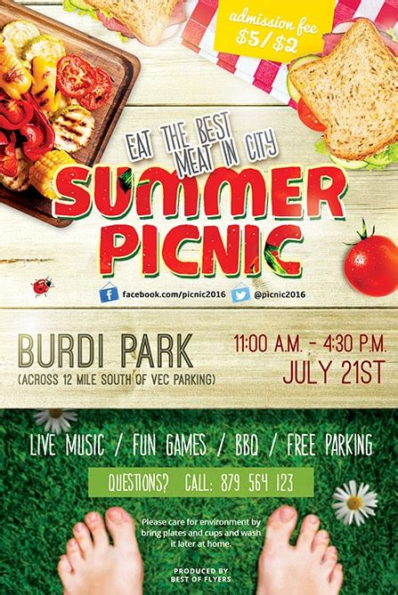 Summer Picnic Flyer Template Summer Picnic Free Psd Flyer Template Best Of Flyers