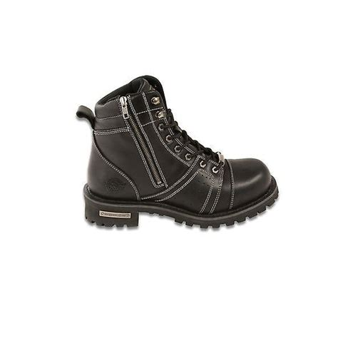 mens motorcycle boots with zipper wide s motorcycle boots leather 6 inch zipper
