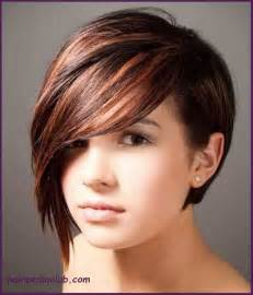 hairdos for faces and hair asymmetric bob short haircuts for fine hair and round