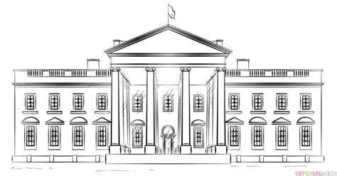 coloring page white house how to draw the white house step by step drawing tutorials