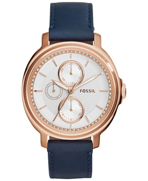 Fossil Chelsey Es3682 fossil s chelsey blue leather 39mm es3832 in blue lyst