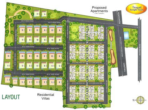 layout plan of township tirupati temple town layout