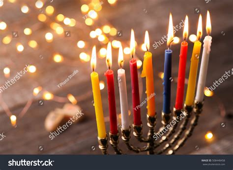 jewish festival of lights hanukkah jewish festival lights stock photo 508448458