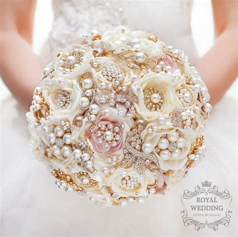Wedding Bouquet And Gold by Bridal Bouquet Brooch Bouquet Gold Wedding Bouquet Ivory