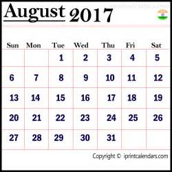 Calendar 2017 August India Get August 2017 Calendar India Right Now Templates Tools