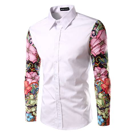 pattern shirt man 2016 new arrival man shirt pattern design long sleeve