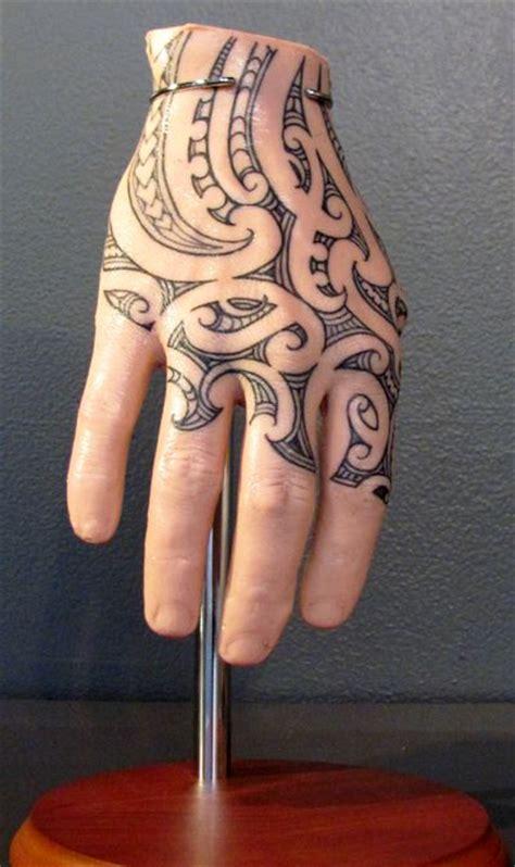 new tattoo designs hands maori hand tattoo silicon hand by whitireia visual arts