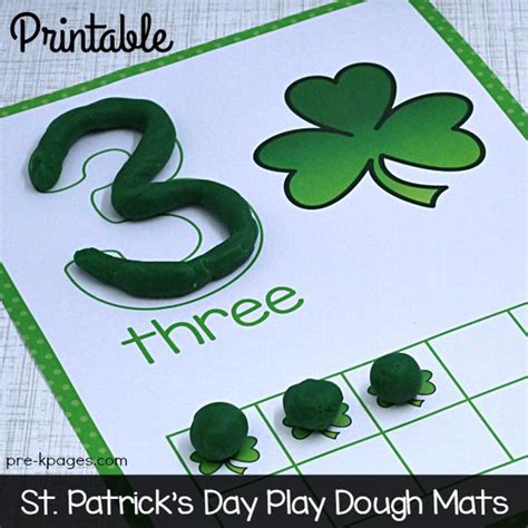 printable playdough counting mats st patrick s day play dough counting mats play dough