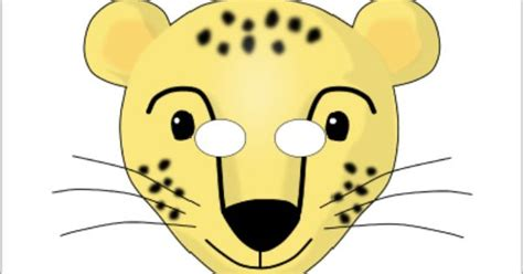 printable rainforest animal masks this website has tons of free printable masks cheetah role