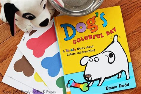 dogs colorful day s colorful day color matching pre k pages