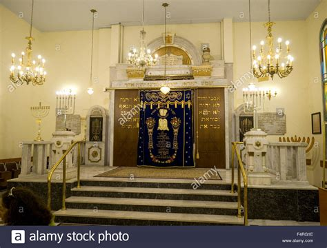 Interior Of A Synagogue by Interior Of The Synagogue The Torah Ark In The Centre