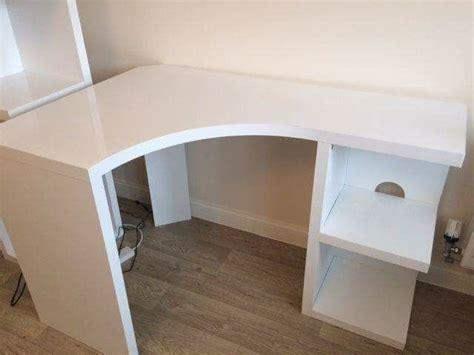next corner desk next corner desk white gloss in cwmbran torfaen gumtree
