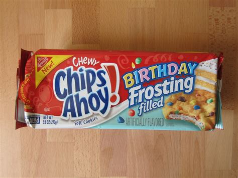 chewy chocolate white chocolate chip cookies a brand new blogging review nabisco birthday frosting filled chips ahoy