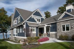 Exterior Paint Ideas For Colonial Homes - lakefront cottage with coastal interiors home bunch interior design ideas