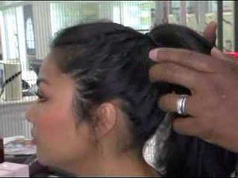 the ted gibbson technece how to style a modern chignon with ted gibson youtube
