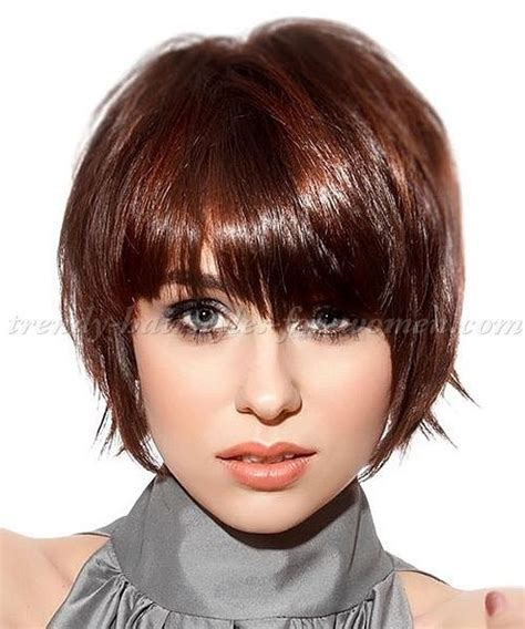 hair cutangled to face 17 best ideas about short hairstyles with bangs on