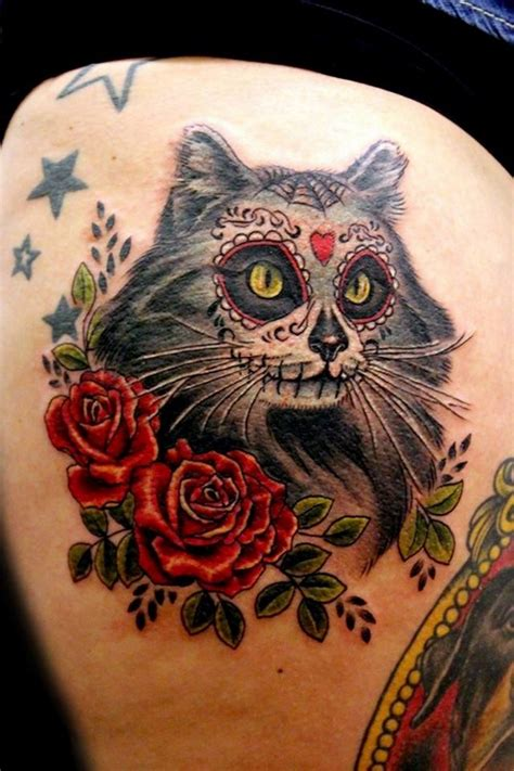 rose and sugar skull tattoos mexican tattoos and designs page 53