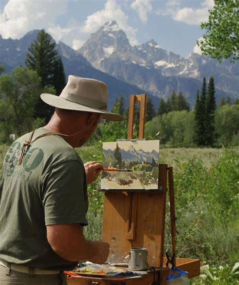 how to be an professional artist professional artists to capture teton scenery wildlife