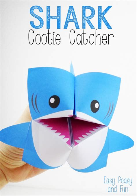 How To Make A Paper Shark Easy - shark cootie catcher origami for easy peasy and