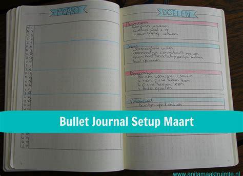 bullet journal setup bullet journal setup maart