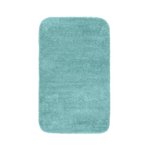 garland rug traditional sea foam 30 in x 50 in washable bathroom accent rug dec 3050 06 the Bathroom Accent Rugs