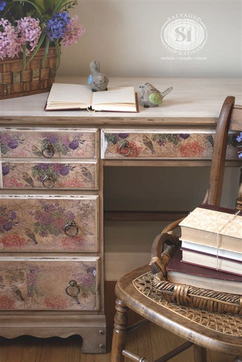 How To Do Decoupage On Furniture - how to decoupage with napkins salvaged inspirations