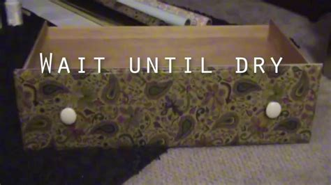 How To Decoupage With Wrapping Paper - diy decoupage dresser wrapping paper