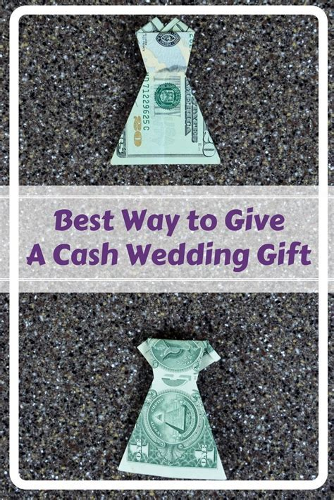 Best Cash Wedding Gift: Money Origami Dress   FaVe Mom