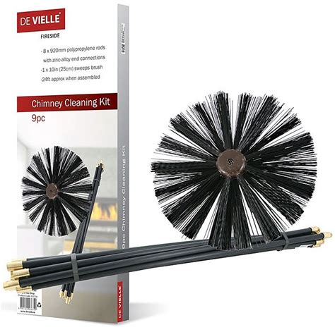 Chimney Flue Cleaning Kit - chimney cleaning brush rods sweep rod sweeping stove