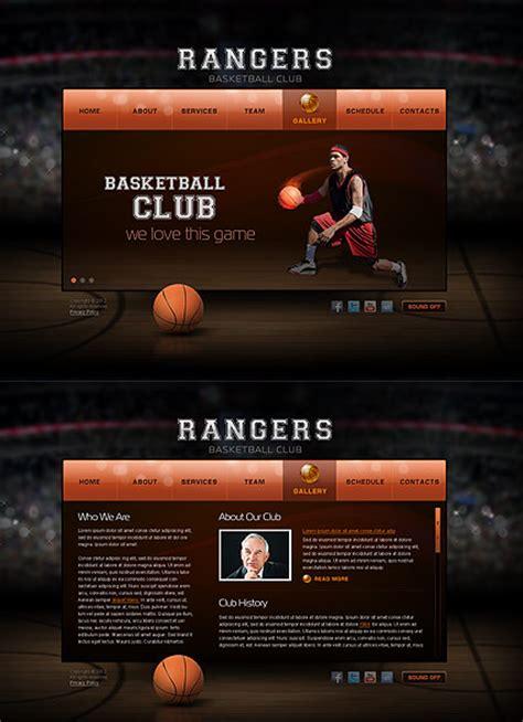 Basketball Club Html5 Template Best Website Templates Basketball Team Website Template