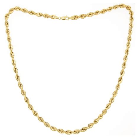 10kt gold 5mm 24 quot rope necklace jewelry pendants