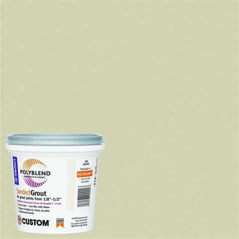 custom building products grout colors custom building products polyblend 382 bone 1 lb sanded