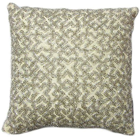 tahari beaded decorative toss pillow cover 100 cotton